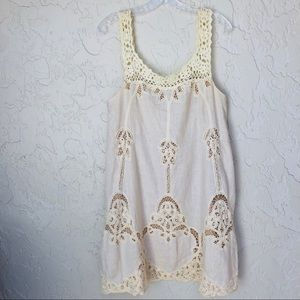 CALYPSO ST BARTHE Linen Embroidered Dress Size S